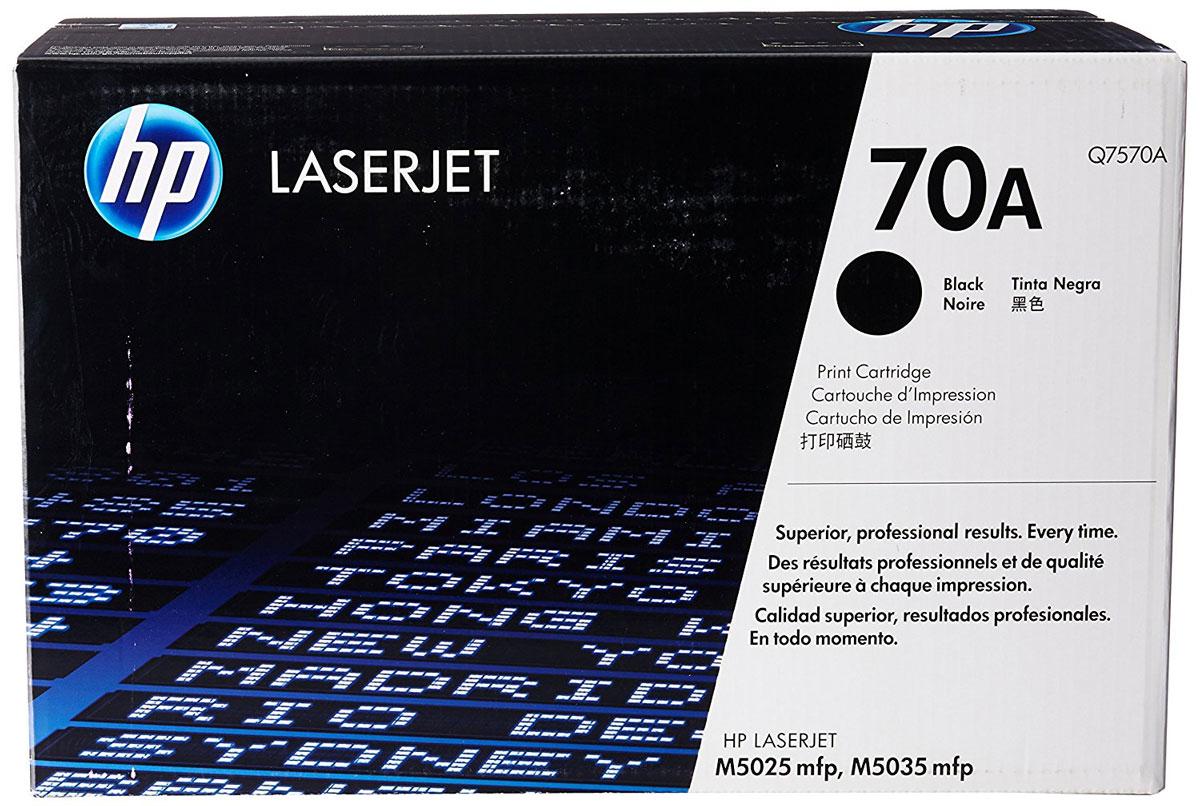 HP Q7570A (70A), Black тонер-картридж для LaserJet M5025/M5035Q7570AКартриджам почти не требуется обслуживание, благодаря чему повышается производительность принтеров. Оригинальные лазерные картриджи HP Q7570A (70A) позволяют сэкономить время и снизить затраты на расходные материалы. Оригинальные лазерные картриджи HP LaserJet — гарантия стабильного качества печати. За счет уменьшения количества простоев экономится время и сокращаются совокупные затраты на печать. В комплекте с лазерным картриджем HP LaserJet поставляются тонер и барабан. Технология HP Smart отправляет оповещения при низком уровне расходных материалов и помогает снизить количество простоев до минимума. Качество и надежность печати на 70% зависят именно от картриджа, поэтому лучший картридж — этот тот, который разработан специально для вашего принтера. Оригинальный картридж HP LaserJet и тонер HP.
