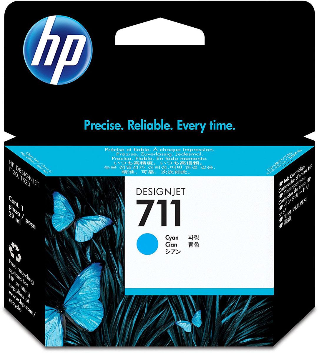 HP CZ130A (711), Cyan картридж для T120/T520CZ130AКартридж HP 711 емкостью 29 мл с голубыми чернилами обеспечивает великолепную печать. Насыщенный цвет и четкие линии в сочетании с быстрым высыханием и стойкостью фотографий к смазыванию. Оригинальные чернила HP разработаны и протестированы вместе с принтерами для обеспечения стабильных результатов. Пробы и ошибки отнимают время. Для получения качества, достойного вас, используйте оригинальные расходные материалы HP, которые в сочетании с принтером работают как оптимизированная система печати для обеспечения точных линий, четких деталей и богатой цветовой гаммы. Представьте, какое влияние вы сможете оказать на своих слушателей, если в вашем арсенале будут четкие и легкочитаемые чертежи и цветные презентации. Оригинальные чернила HP — это уникальная комбинация качества и надежности; чернила HP — это четкость линий, быстрое высыхание и стойкость к смазыванию.