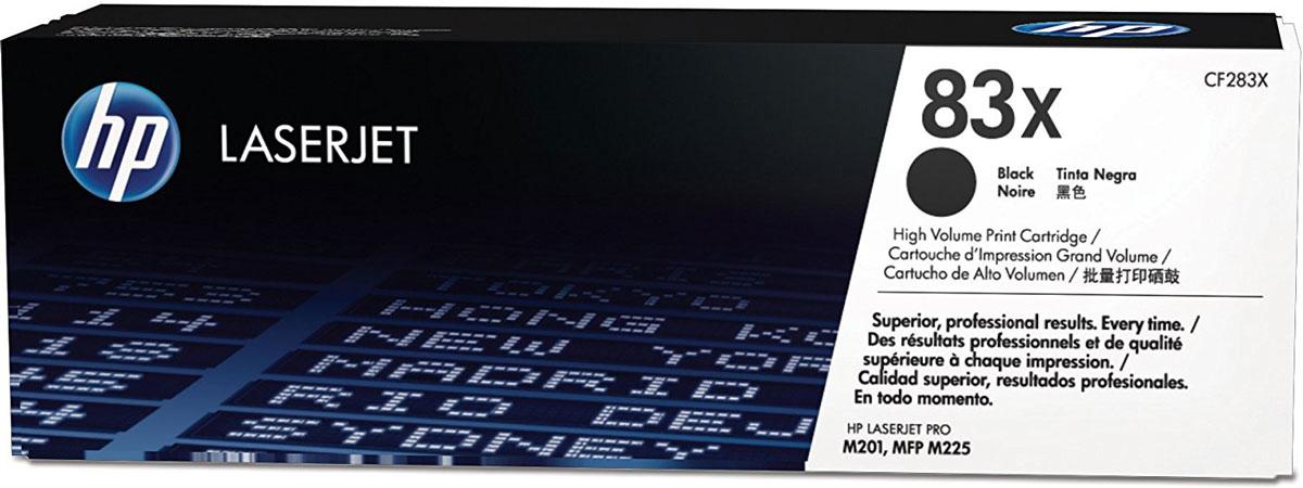 HP CF283X (83X), Black тонер-картридж для LaserJet Pro M201/M225CF283XТонер-картридж HP 83X разработан для стабильно высоких результатов. Оригинальный лазерный картридж HP LaserJet позволяет печатать документы с четким текстом и яркими изображениями. Повседневные офисные задачи станут еще проще благодаря удобству хранения и замены расходных материалов.