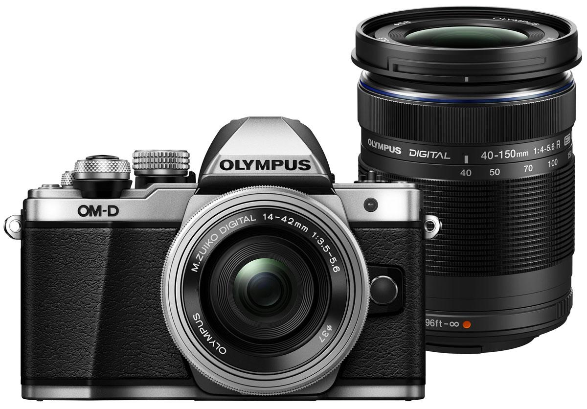 Olympus OM-D E-M10 Mark II Kit 14-42 EZ + 40-150 R, Silver цифровая фотокамераV207053SE000Olympus OM-D E-M10 Mark II - компактная, легкая и эргономичная камера, которая способна удовлетворить все ваши потребности, куда бы вы ни отправились. Несмотря на цельнометаллический корпус E-M10 Mark II весит всего 390 г, так что она никогда не станет вам помехой. Великолепный классический дизайн и самые передовые технологии для получения отличных снимков. Идеальное качество снимков в условиях плохого освещения и в движении. Ваши снимки будут ясными и четкими в любой ситуации благодаря примененной в E-M10 Mark II мощной технологии 5-осевой стабилизации изображения (IS). Где бы вы ни оказались вы всегда получите великолепные, качественные, четкие снимки. 5-осевой стабилизатор изображения встроен в корпус для более эффективной работы и уменьшения веса камеры. С E-M10 Mark II публиковать фотографии стало просто как никогда. Передайте фотографии на свой смартфон с помощью приложения OLYMPUS Image Share (OI.Share) и легко поделитесь ими со своими...