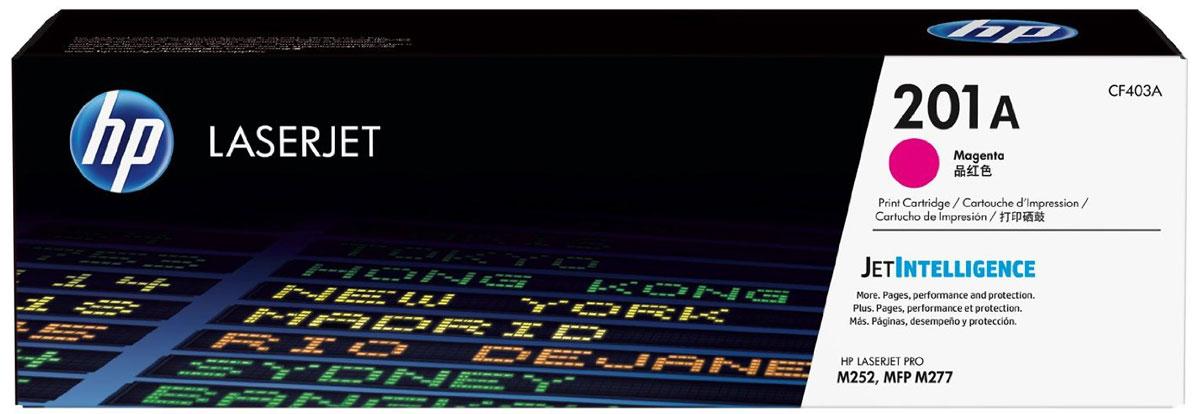 HP CF403A (201A), Magenta тонер-картридж для Color LaserJet Pro M252/M274/M277CF403AОригинальные лазерные картриджи HP 201A с технологией JetIntelligence оснащены инновационными средствами проверки и отличаются потрясающей производительностью при высокой скорости работы. Будьте уверены, что извлекаете максимум выгоды из каждого картриджа. Оригинальные лазерные картриджи HP LaserJet с технологией JetIntelligence гарантируют точное отслеживание уровня расхода тонера. Количество высококачественных документов, которые вы сможете напечатать, превзойдет все ожидания. Тонер ColorSphere 3 был специально разработан для повышения производительности принтера. Низкая температура плавления гарантирует профессиональное качество печати. Все оригинальные лазерные картриджи HP LaserJet с поддержкой JetIntelligence оснащены эксклюзивной технологией HP по борьбе с поддельной продукцией. При установке картриджа в принтер его подлинность проверяется автоматически.