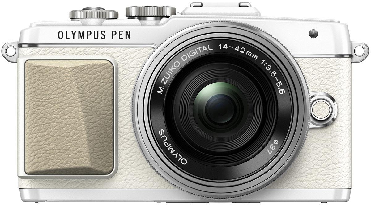 Olympus PEN E-PL7 Kit 14-42 EZ, White цифровая фотокамераV205073WE001Камера Olympus PEN E-PL7 сделана из премиального металла с тиснением под кожу, что подчеркивает вашу утонченность. Она отлично помещается в сумочку и сочетается с аксессуарами. Каждая деталь (дизайн привлекательного ремешка, расположение управляющих дисков) была создана для того, чтобы вы выглядели элегантно все время. Высочайшее качество снимков зависит от высококачественного объектива, мощного сенсора и графического процессора. К счастью, цифровая фотокамера Olympus E-PL7 оснащена всем перечисленным. В результате вы получаете высокое разрешение, отличную цветопередачу, низкий уровень шума и широкий динамический диапазон. С помощью модуля Wi-Fi вы можете передать их на мобильное устройство и выложить в блоге, а также делиться с друзьями. Камерой очень легко управлять - например, LCD-дисплей откидывается вниз, чтобы вы были уверены, что руки не попадут в кадр при съемке. Таким образом можно делать великолепные селфи. Данная модель позволит...