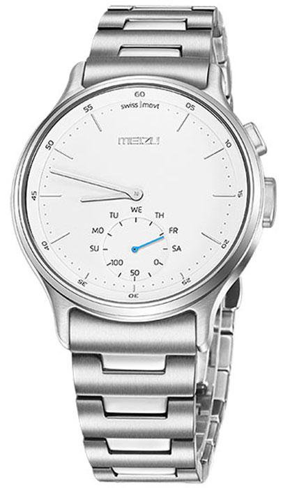 Meizu Mix Steel, Silver смарт-часыMZWA1S-S-SLЛёгкие умные часы с кварцевым механизмом Meizu Mix. Корпус, циферблат, стрелки и браслет умных кварцевых часов Meizu Mix изготовлены из ювелирной стали. Она устойчива к коррозии, высоким температурам и износу. Прекрасная комбинация надёжных материалов и утончённого дизайна. Элегантное сапфировое стекло. Твёрдость сапфирового стекла равна 9 и уступает лишь алмазу. Такое стекло выдерживает царапины, удары и высокие температуры. Вы не будете разочарованы. В умных часах Meizu Mix установлен швейцарский часовой механизм, известный благодаря своей долгой истории и мастерству изготовления. В часах сочетаются функциональность умных часов и продолжительный срок службы с традиционной точностью и надёжностью. Легкие умные часы Meizu плотно сидят на запястье. Теперь вы больше не пропустите входящий звонок, SMS или сообщение в мессенджере. В часах возможно настроить будильник и напоминания. Высокоточный сенсор отслеживает ваши...