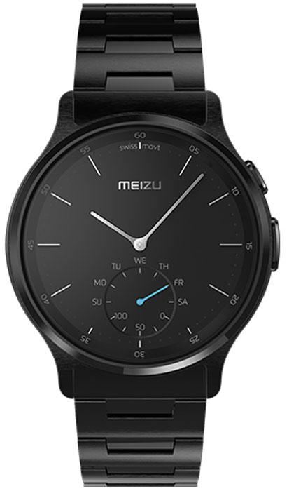 Meizu Mix Steel, Black смарт-часыMZWA1S-S-BKЛёгкие умные часы с кварцевым механизмом Meizu Mix. Корпус, циферблат, стрелки и браслет умных кварцевых часов Meizu Mix изготовлены из ювелирной стали. Она устойчива к коррозии, высоким температурам и износу. Прекрасная комбинация надёжных материалов и утончённого дизайна. Элегантное сапфировое стекло. Твёрдость сапфирового стекла равна 9 и уступает лишь алмазу. Такое стекло выдерживает царапины, удары и высокие температуры. Вы не будете разочарованы. В умных часах Meizu Mix установлен швейцарский часовой механизм, известный благодаря своей долгой истории и мастерству изготовления. В часах сочетаются функциональность умных часов и продолжительный срок службы с традиционной точностью и надёжностью. Легкие умные часы Meizu плотно сидят на запястье. Теперь вы больше не пропустите входящий звонок, SMS или сообщение в мессенджере. В часах возможно настроить будильник и напоминания. Высокоточный сенсор отслеживает ваши...