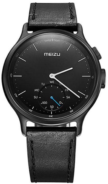 Meizu Mix Leather, Black смарт-часыMZWA1S-L-BKЛёгкие умные часы с кварцевым механизмом Meizu Mix и ремешком из крупно-зернистой итальянской кожи. Корпус, циферблат и стрелки умных кварцевых часов Meizu Mix изготовлены из ювелирной стали. Она устойчива к коррозии, высоким температурам и износу. Прекрасная комбинация надёжных материалов и утончённого дизайна. Элегантное сапфировое стекло. Твёрдость сапфирового стекла равна 9 и уступает лишь алмазу. Такое стекло выдерживает царапины, удары и высокие температуры. Вы не будете разочарованы. В умных часах Meizu Mix установлен швейцарский часовой механизм, известный благодаря своей долгой истории и мастерству изготовления. В часах сочетаются функциональность умных часов и продолжительный срок службы с традиционной точностью и надёжностью. Легкие умные часы Meizu плотно сидят на запястье. Теперь вы больше не пропустите входящий звонок, SMS или сообщение в мессенджере. В часах возможно настроить будильник и напоминания. ...