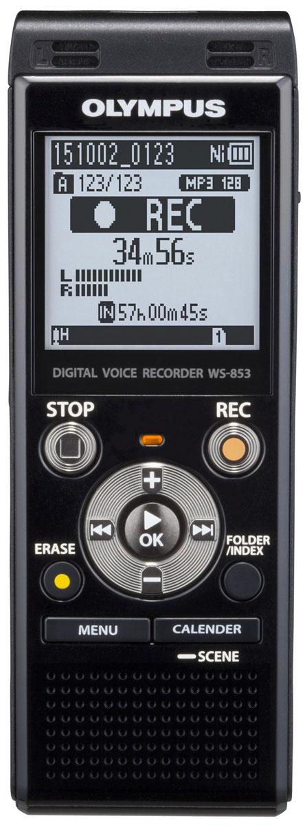 Olympus WS-853, Black диктофонV415131BE000Независимо от ваших потребностей, в формальной или неформальной обстановке, диктофон Olympus WS-853 сочетает в себе высокую производительность, стерео запись со смарт-функциональностью. Это не только делает его приятным, но и простым в использовании в любой ситуации. Стерео микрофон с шумоподавлением и радиусом охвата 90° позволит вам запечатлеть мельчайшие детали встречи. Независимо от того, где находится спикер и в каком направлении расположен микрофон. Для того, чтобы сделать прослушивание записей более комфортным, режим Intelligent Auto Mode автоматически настраивает уровень звука от разных источников, делая их максимально близкими по громкости. Когда спикер говорит очень громко, диктофон уменьшает уровень входного сигнала, а для мягких голосов рекордер увеличивает уровень входного сигнала - всегда обеспечивая один уровень громкости. С двумя различными режимами отображения, вы можете использовать диктофон, даже если вы новичок. ...