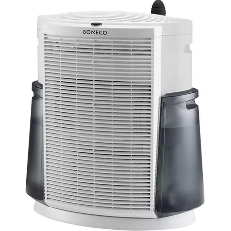 Boneco 2071 климатический комплексНС-1076945Технологичный и современный дизайн комплекса, напоминающий небоскреб, символизирует его предназначение. Boneco 2071 незаменим в крупных городах и мегаполисах, где воздух предельно загрязнен пылью, смогом и выхлопными газами. Климатический комплекс особенно необходим людям, страдающим от аллергии: его мощный вентилятор пропускает через фильтры поток воздуха, в кратчайшие сроки обеспечивая безопасный и комфортный микроклимат для работы и отдыха. Словно огромный горный ледник, он спокойно и невозмутимо превращает смог мегаполиса в чистый альпийский воздух совершенно бесшумно. Воздух проходит через HEPA-фильтр, на котором оседают частицы размером до 0,1 мкм, часто являющиеся причиной возникновения аллергий. Угольный фильтр поглощает вредные газы и неприятные запахи. Далее воздух увлажняется с помощью специального увлажняющего фильтра. Таким образом, в помещение возвращается увлажненный и очищенный от аллергенов и бактерий воздух. Помимо основных...