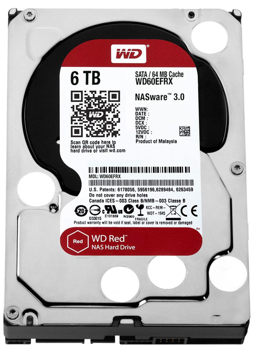 WD Red 6TB внутренний жесткий диск (WD60EFRX)WD60EFRXЧтобы быстро и удобно транслировать медиафайлы, создавать резервные копии данных, хранящихся на ПК, обмениваться файлами и работать с цифровыми материалами, установите в сетевом устройстве хранения накопители WD Red. Удобная интеграция, надежная защита данных и оптимальное быстродействие для систем NAS с высокими требованиями. Транслируйте цифровые материалы, выполняйте их резервное копирование, систематизируйте их и отправляйте на телевизор, ПК и другие устройства. Технология NASware повышает совместимость ваших накопителей с системами NAS, обеспечивая тем более высокое качество воспроизведения цифровых материалов на устройствах. В основе процветания любого бизнеса лежат производительность и эффективность. И именно этими двумя принципами WD руководствовались, разрабатывая накопители Red. Благодаря накопителю WD Red в системах NAS вы сможете предоставлять общий доступ к файлам и выполнять их резервное копирование с той же скоростью, с какой работает ваша...