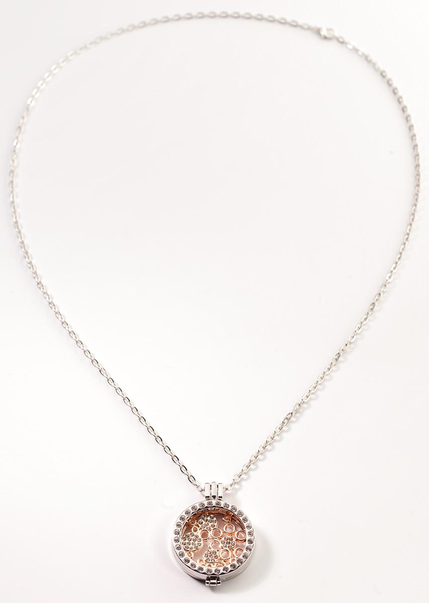 Кулон Bradex Узоры, цвет: золотистый, серый металлик. AS 0089AS 0089Кулон Bradex Узоры представляет собой элегантный круг с серебряным покрытием, инкрустированный мелкими кристаллами по периметру. Внутри круга расположены оригинальные узоры, сделанные в виде сплетенных между собой кругов разных размеров, также украшенных кристаллами. В комплекте имеется цепочка якорного плетения с серебряным покрытием.