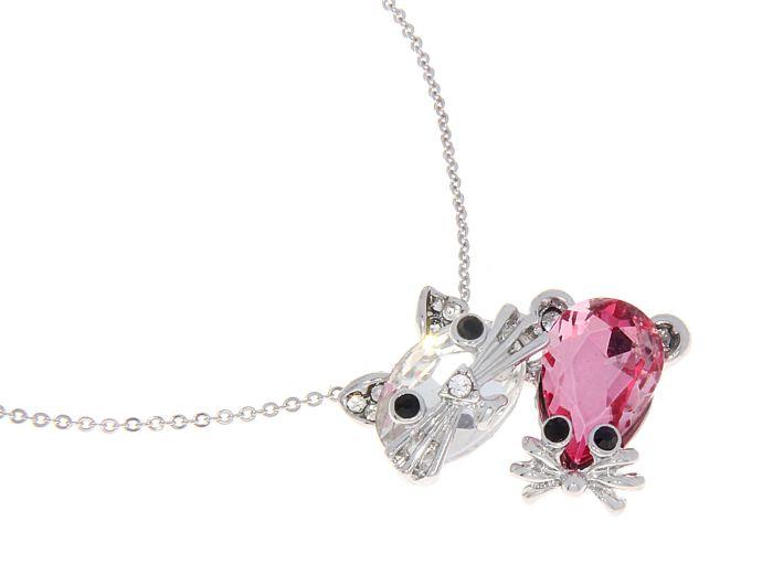 Кулон Mitya Veselkov Кошка с мышкой, цвет: розовый. 125297125297