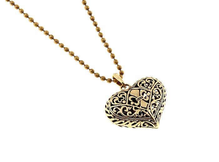 Кулон Mitya Veselkov Art. Сердце, цвет: золотистый. 641518641518