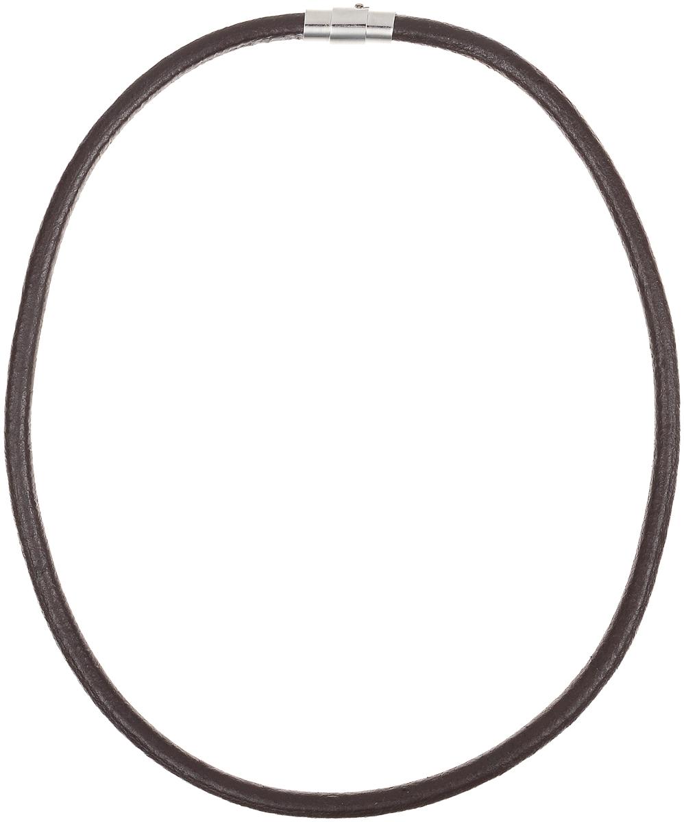 Ожерелье Art-Silver, цвет: коричневый. КЖ292кр-203КЖ292кр-203Ожерелье современного дизайна Art-Silver изготовлено из бижутерийного сплава и искусственной кожи. В комплекте с украшением поставляется мешочек для хранения.
