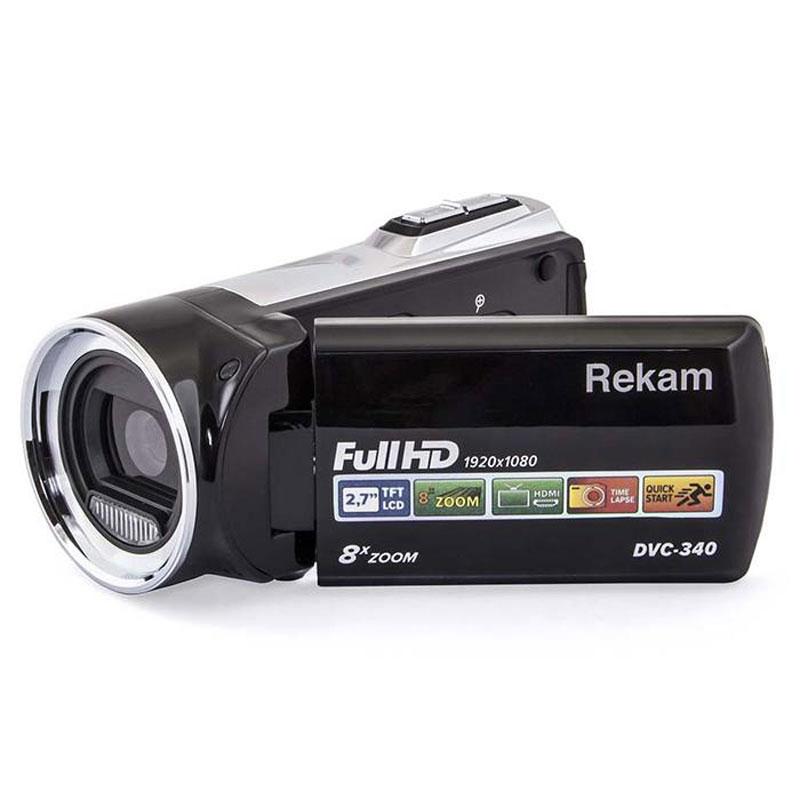 Rekam DVC-340, Black цифровая видеокамера2504000001Цифровая видеокамера Rekam DVC-340 оснащена CMOS матрицей, оптическим зумом 8х и электронной стабилизацией изображения. Благодаря этому может записывать Full HD видео с насыщенными оттенками и большой контрастностью в любых условиях – в том числе при слабом освещении. 2,7-дюймовый полноцветный дисплей помогает всегда удерживать объект съемки в центре кадра, а также следить за записью видео.