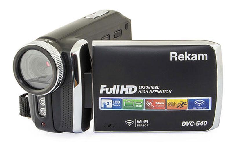 Rekam DVC-540, Black цифровая видеокамера2504000002Цифровая видеокамера Rekam DVC-540 оснащена CMOS матрицей, оптическим зумом 8х, электронной стабилизацией изображения и модулем WiFi. Благодаря этому может записывать Full HD видео с насыщенными оттенками и большой контрастностью в любых условиях - в том числе при слабом освещении. 3-дюймовый полноцветный дисплей помогает всегда удерживать объект съемки в центре кадра, а также следить за записью видео.