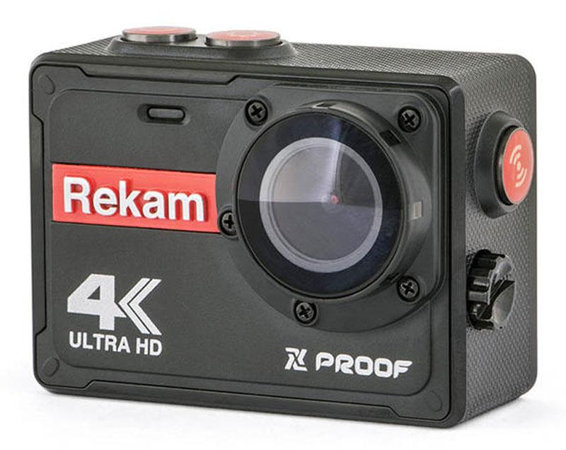 Rekam XPROOF EX640, Black экшн-камера2680000003Экшн-камера Rekam XPROOF EX640 позволяет записывать видео с разрешением 4К и очень плавным изображением до 30 кадров в секунду. Камера оснащена 2 TFT LCD экраном. Она созданная специально для спортсменов-экстремалов, мечтающих снять на видео самые яркие моменты своих приключений. Обычная видеокамера не выдерживает сложных условий съемки, скорости, перепадов температур, тогда как экшн-камера Rekam XPROOF EX640 благодаря конструктивным особенностям и техническим характеристикам легко справляется с этими задачами. Важным преимуществом камеры является маленький вес и миниатюрные габариты, способствующие фиксации устройства на теле спортсмена, не стесняя свободы движений. Емкость аккумулятора: 1000 мAч.