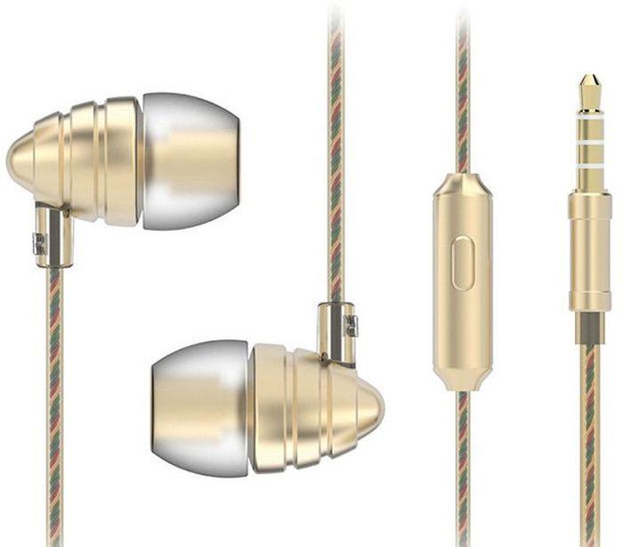 Harper HV-805, Gold наушникиH00000973Парфюмированные Стерео Наушники с Микрофоном Звук высокого разрешения обеспечивает максимально качественное воспроизведение музыки, Насыщенные басы, бионический дизайн, удобное управление Кабель длиной 1,2 метра идеально подходит для использования на улице Встроенный пульт и микрофон для быстрого переключения между музыкой и вызовами Мягкие силиконовые накладки 3 размеров для максимального комфорта Чувствительность: 102±3 дБ/В Частотный диапазон: 20 Гц~20 кГц Сопротивление: 32 Ом