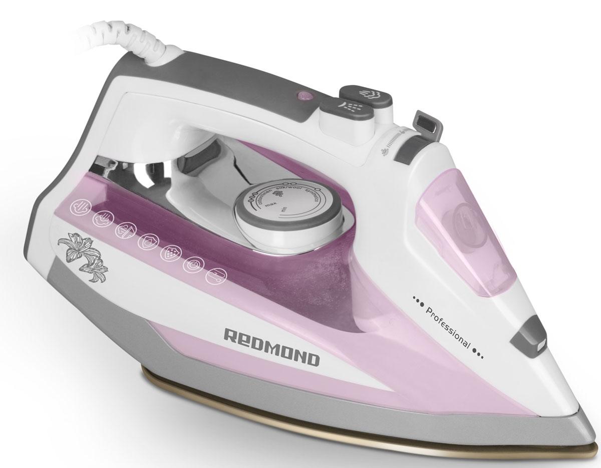 Redmond RI-D235, Pink утюгRI-D235 (розовый)Утюг Redmond RI-D235 - новая классическая модель с простым и надёжным механизмом управления, обладающая обширным набором функций и технических возможностей. Данный прибор идеально подойдёт для любого дома! Утюг RI-D235 имеет подошву с современным антипригарным покрытием Duralon, которое гарантирует лёгкое и приятное скольжение устройства по ткани и равномерное распределение пара по всей поверхности. В данной модели реализована автоматическая система Капля-стоп, предотвращающая протекание воды. Благодаря этому можно разглаживать даже самые деликатные ткани без риска повредить их. Функция самоочистки служит для очистки аппарата от образовавшейся накипи в соплах подошвы. Чрезвычайно полезен и паровой удар, предназначенный для разглаживания плотных и сильно мнущихся тканей. Redmond RI-D235 порадует возможностью сухого глаженья и функцией автоотключения, обеспечивающей безопасность эксплуатации утюга и позволяющей экономить электроэнергию. Для...