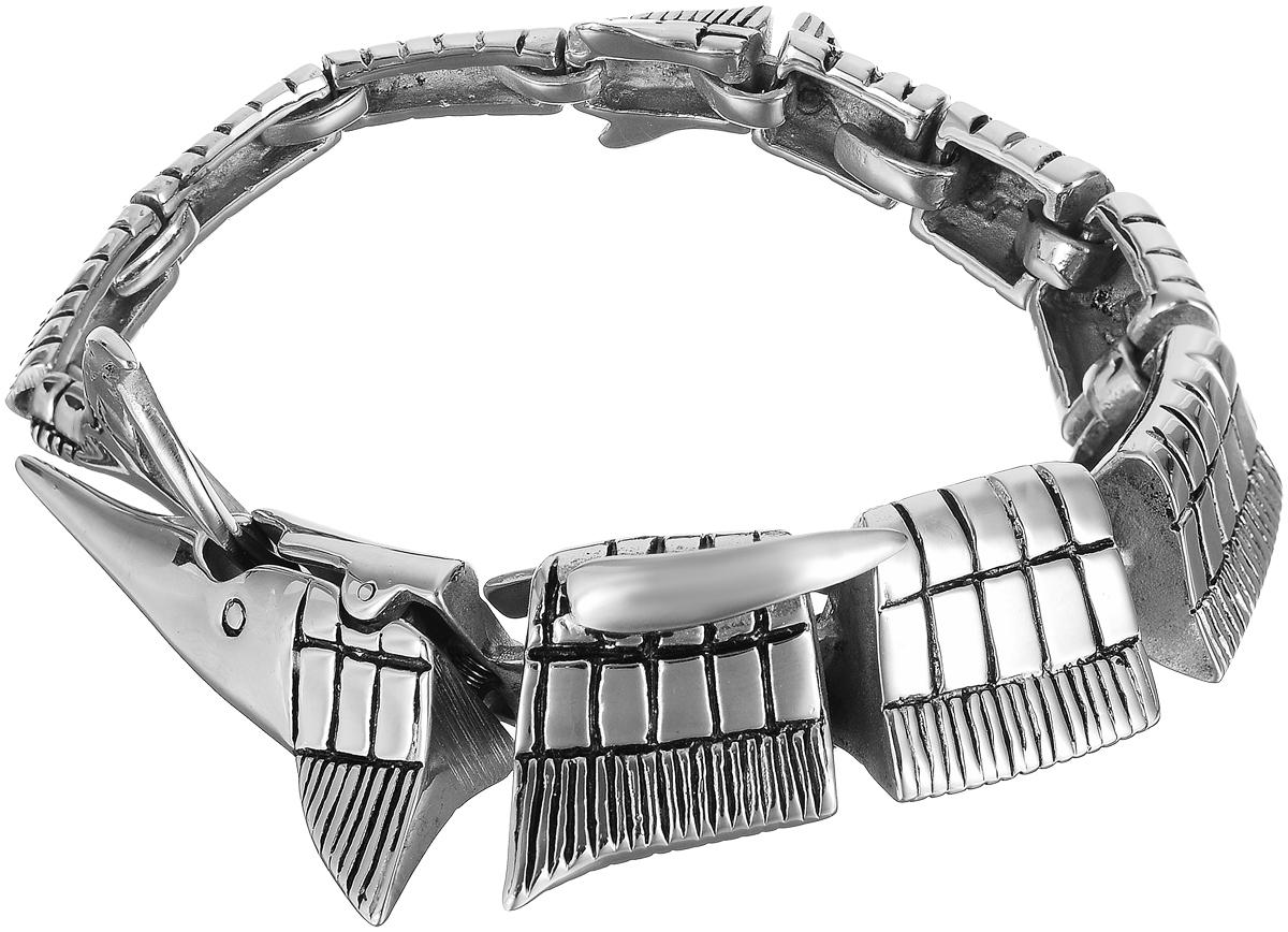 Браслет Art-Silver, цвет: серебряный. 231015-2-1800231015-2-1800Женский браслет Art-Silver выполнен из стали. Браслет застегивается при помощи замка-крокодила, благодаря которому браслет легко снимать и надевать. Необычный браслет блестяще подчеркнет ваш изысканный вкус и поможет внести разнообразие в привычный образ.