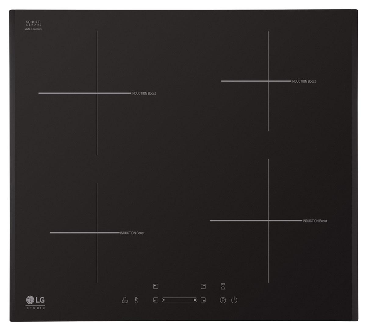 LG KVN6403AF, Black варочная панельLG KVN6403AFLG KVN6403AF - индукционная варочная панель из стеклокерамики с сенсорным управлением. Благодаря простой системе управления и легкой очистке вы сможете насладиться удобством приготовления от начала до конца. Индукционная плита не только сделает дизайн вашей кухни роскошным, но и обеспечит отличный результат приготовления вкусных и полезных блюд. Уровень мощности и все функции регулируются простым прикосновением к электронной сенсорной панели управления на керамической поверхности. Поэтому ей очень легко управлять, а также очищать после использования. Все зоны приготовления могут быть автоматически отключены с помощью встроенного таймера приготовления пищи. Вы можете выбрать время от 1 до 99 минут для каждой индукционной зоны. По истечению времени они автоматически отключатся. Такой таймер позволяет готовить удобно, безопасно и легко. Функция Power Boost позволяет быстрее нагреть все включенные зоны индукционной плиты до определенной...