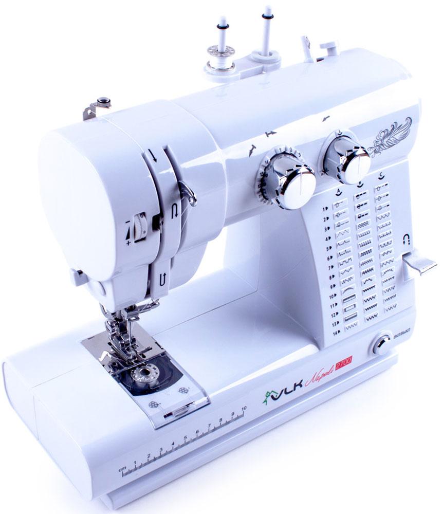 VLK Napoli 2700 швейная машинаVLK Napoli 2700Швейная машина VLK Napoli 2700 относится к электромеханическому типу с горизонтальным челноком. Вы можете работать с тканями любой толщины и различных видов. Одним из важных достоинств модели является наличие 42 программ шитья, которые помогут справиться с рукоделием даже неопытному человеку. Машинка в полуавтоматическом режиме сделает петли на одежде, способна шить в нескольких направлениях, что значительно расширяет ее возможности. Встроенная подсветка позволит работать с прибором даже в темное время суток.
