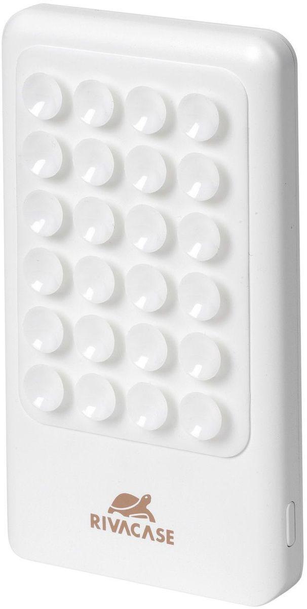 Rivapower VA 2204, White внешний аккумулятор (4000 мАч)VA 2204RIVAPOWER VA 2204 - это литий-полимерный внешний аккумулятор на присосках емкостью 4000mAh, имеющий поверхность, покрытую присосками, которые позволяют надежно прикрепить аккумулятор к телефону, прочно удерживая устройства вместе во время зарядки. Зарядное устройство совместимо со всеми популярными моделями смартфонов, планшетов и других мобильных устройств. Также имеет защиту от перегрузок, короткого замыкания, чрезмерного заряда и разряда. RIVAPOWER VA 2204 оснащен функцией автоматического включения/выключения. Достаточно подключить кабель к micro-USB разъему мобильного устройства, и он уже заряжается. Для проверки уровня заряда нажмите на кнопку, расположенную сбоку на корпусе аккумулятора. 4 светодиодных индикатора на лицевой стороне покажут оставшийся уровень заряда.