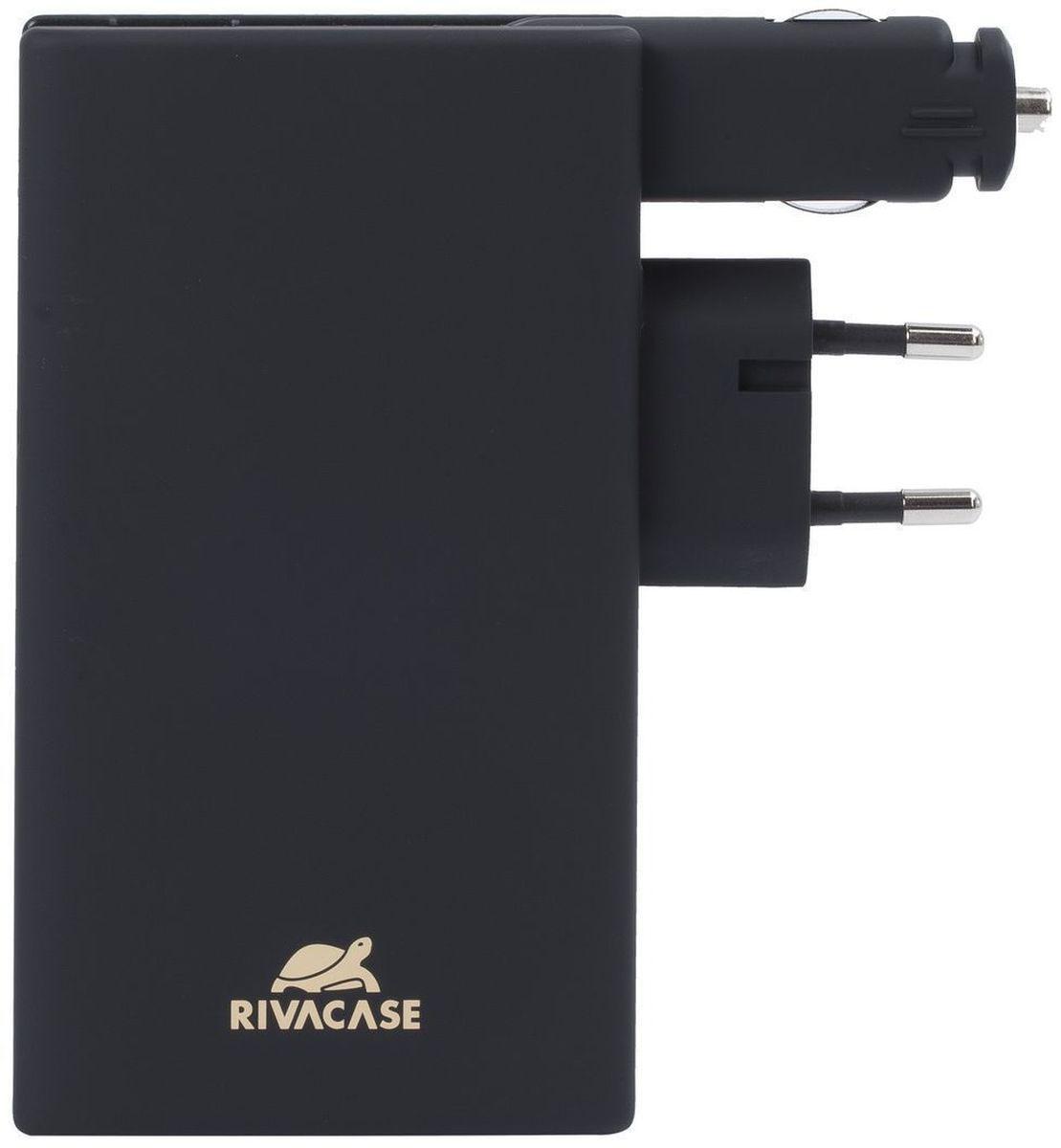 Rivapower VA4749, Black внешний аккумулятор (5000 мАч)VA 4749Rivapower VA4749- это литий-полимерный аккумулятор. Совместим с большинством популярных моделей смартфонов и планшетов, включая iPhone 5/6 и iPad 3. Для зарядки устройств Apple необходимо наличие оригинального кабеля Apple Lightning. Имеет защиту от перегрузок, короткого замыкания, чрезмерного заряда и разряда. Имеется функция автоматического включения/выключения. Достаточно подключить кабель к micro-USB разъему мобильного устройства, и он уже заряжается. Для проверки уровня заряда встряхните аккумулятор. 4 светодиодных индикатора покажут оставшийся уровень заряда. Нажмите кнопку на задней стороне устройства, чтобы освободить вилку. По завершении зарядки снова нажмите кнопку, чтобы убрать вилку внутрь устройства. Для зарядки устройства в автомобиле разверните автомобильный штекер и вставьте его в прикуриватель. Не используйте оба зарядных разъема одновременно.