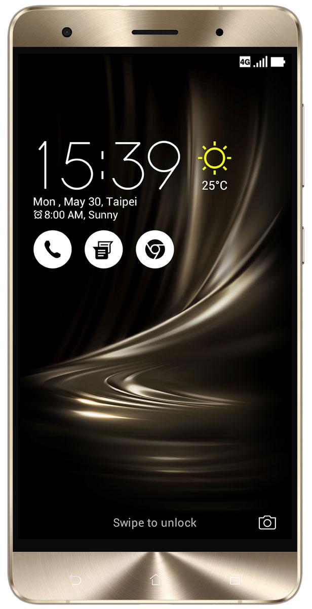 ASUS ZenFone 3 Deluxe ZS570KL, Gold (90AZ0161-M00110)90AZ0161-M00110Великолепный смартфон ASUS ZenFone 3 Deluxe ZS570KL, в котором безупречное качество изготовления и техническое совершенство приводят к рождению уникальной формы - тонкого цельнометаллического корпуса без каких-либо пластиковых вставок для антенн, а внутри - 23-мегапиксельная камера с системой тройной автофокусировки TriTech и 6 гигабайт оперативной памяти. ZenFone 3 Deluxe обладает стильным, полностью металлическим корпусом без диэлектрических вставок на задней крышке, изящество которого подчеркивается эффектными гранями, выполненными с помощью алмазной резки. ZenFone 3 Deluxe - это чудо современных технологий, которое рождается в результате сложного производственного процесса, включающего в себя 240 этапов. Прецизионная фрезеровка заготовки для получения прочного и при этом тонкого корпуса, полировка металлической рамки методом пескоструйной обработки - каждый этап представляет собой еще один шаг на пути к техническому совершенству, которым является новый...