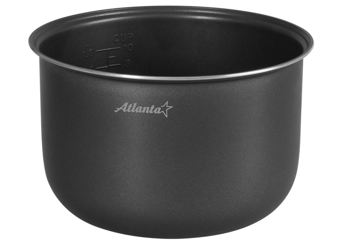 Atlanta SP-595 чаша для мультиварки77.858@22007Чаша для мультиварки АТН-595. Объем 5 литров. Чаша с двухслойным антипригарным покрытием. Мерная шкала внутри.