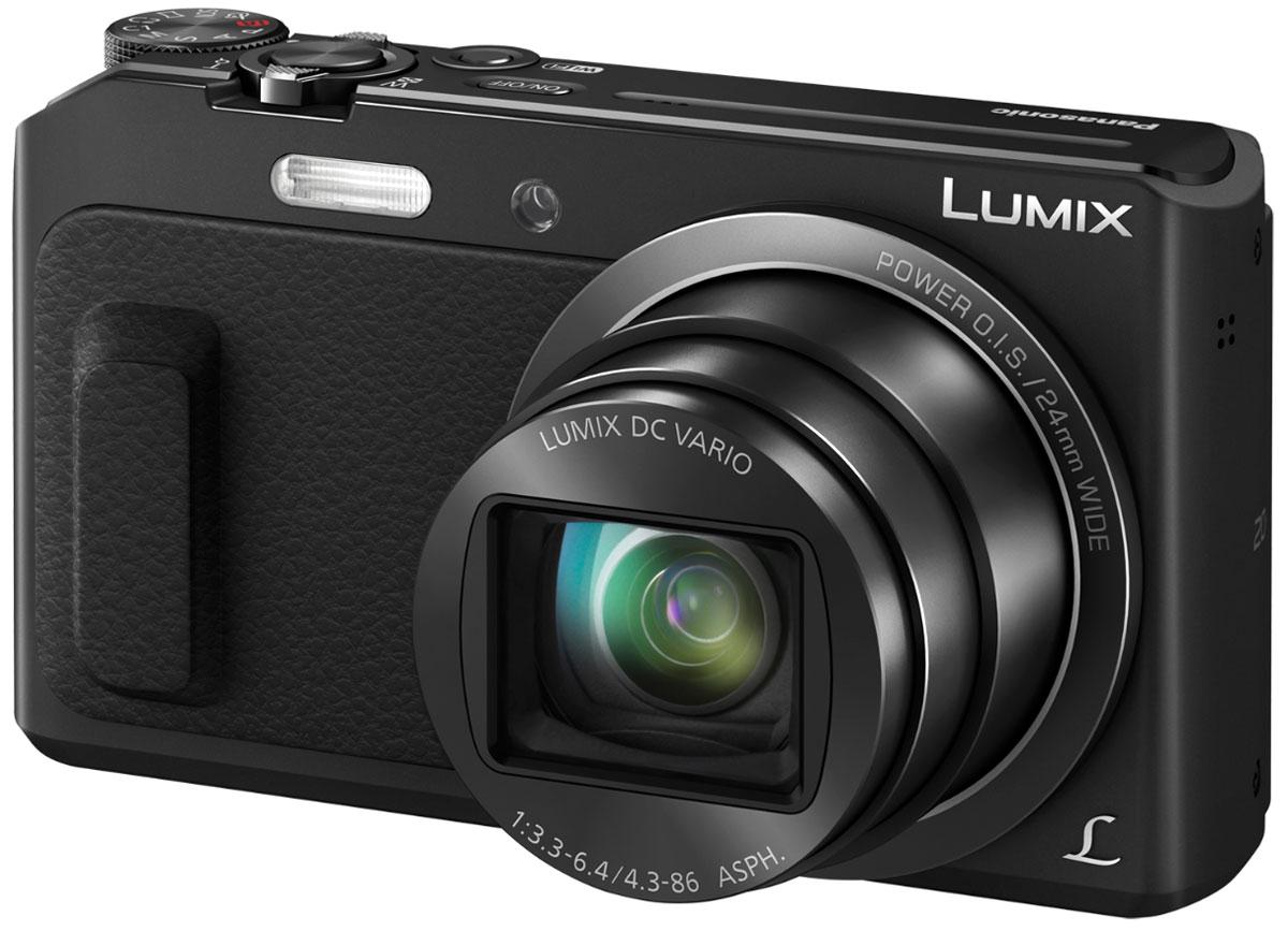 Panasonic Lumix DMC-TZ57, Black цифровая фотокамера DMC-TZ57EE-K