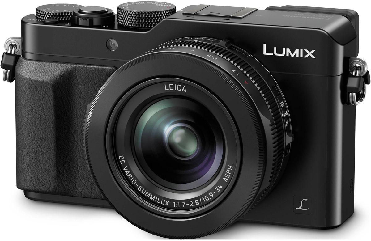 Panasonic Lumix DMC-LX100, Black цифровая фотокамераDMC-LX100EEKДинамические сюжеты становятся произведениями искусства. Сочетание удивительного объектива и большого сенсора компактной камеры Panasonic Lumix DMC-LX100 с высокотехнологичными функциями и возможностью управления в аналоговом режиме позволяет воплотить замысел ее создателей по созданию снимков поразительного качества. Фотокамера разработана для передачи поразительной градации тонов и богатых текстур во всей их естественной красоте. Она оснащена новым большим высокочувствительным МOS-сенсором размером 4G дюйма с поддержкой различных соотношений сторон. При использовании разрешения в 12,8 мегапикселей (соотношение сторон 4:3) выполняется регулировка объема поступающею света для улучшения отношения сигнал-шум. Это дает возможность получать четкие изображения с минимальным шумом даже при ISO25600. Специально разработанный объектив LEICA DC VARIO-SUMMILUX отличается оптимизированной оптической системой, состоящей из 5 асферических линз, изготовление которых стало...