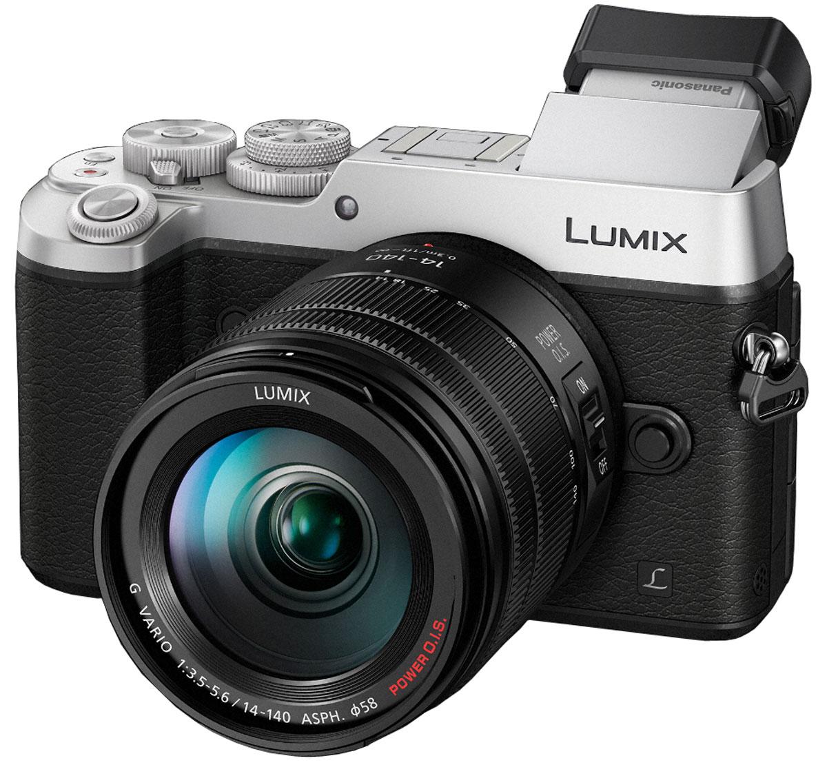 Panasonic Lumix DMC-GX8 Kit 14-140mm, Silver цифровая фотокамераDMC-GX8HEE-SКамера Panasonic Lumix DMC-GX8 оснащена 20,3-мегапиксельным сенсором, двойным стабилизатором изображения, функцией записи 4К видео и фото, что позволяет снимать объекты в наилучшем качестве. Тщательно разработанную конструкцию камеры оценят даже профессиональные фотографы. Модель оснащена двойным стабилизатором изображения Dual I.S. для еще более эффективной коррекции дрожания рук. Одновременная работа стабилизатора корпуса и объектива обеспечивает оптимальный эффект. Благодаря расширенному углу коррекции (до 3.5х) можно получать четкие снимки при съемке с рук даже в условиях низкой освещенности. Фотокамера оснащена новым 20.3-мегапиксельным сенсором Digital Live MOS, который обеспечивает наилучшее качество изображения в истории цифровых камер линейки LUMIX G. Благодаря сенсору достигается высокоскоростная серийная съемка, высокочувствительная запись вплоть до ISO 25 600 и более широкий динамический диапазон. Сочетание сенсора Digital Live MOS и процессора Venus...