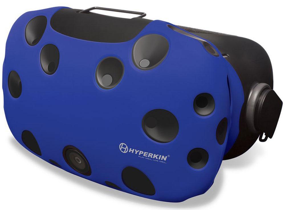 Hyperkin GelShell, Blue чехол для HTC Vive (M07200)M07200-BUЧехол Hyperkin GelShell обеспечивает защиту для главного компонента системы при ежедневном использовании. Приятный на ощупь и красивый внешне, защитный чехол дополнит образ всей системы виртуальной реальности.