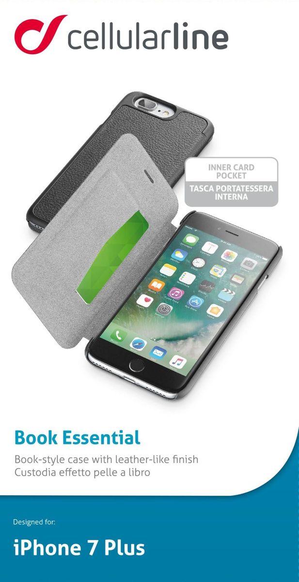 Cellular Line Book чехол для iPhone 7 Plus, BlackBOOKESSIPH755KЧехол-книжка Cellular Line Book для iPhone 7 Plus надежно защитит ваш смартфон от пыли, грязи, царапин, оставив при этом свободный доступ ко всем разъемам устройства. Также имеется возможность использования чехла в виде настольной подставки. Чехол Cellular Line Book - это стильная и элегантная деталь вашего образа, которая всегда обращает на себя внимание среди множества вещей.