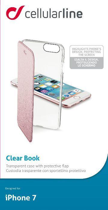 Cellular Line Book чехол для iPhone 7, PinkCLEARBOOKIPH747PЧехол-книжка Cellular Line Book для iPhone 7 защитит ваш смартфон от пыли, грязи, царапин, оставив при этом свободный доступ ко всем разъемам устройства. Также имеется возможность использования чехла в виде настольной подставки. Чехол Cellular Line Book - это стильная и элегантная деталь вашего образа, которая всегда обращает на себя внимание среди множества вещей.
