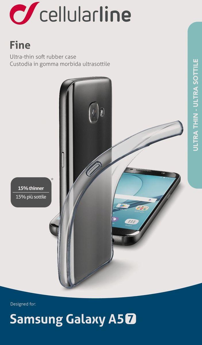 Cellular Line Fine чехол для Samsung Galaxy A5 (2017), ClearFINECGALA517TПрозрачная силиконовая задняя крышка для смартфона, ультратонкая, ультрапрозрачная.