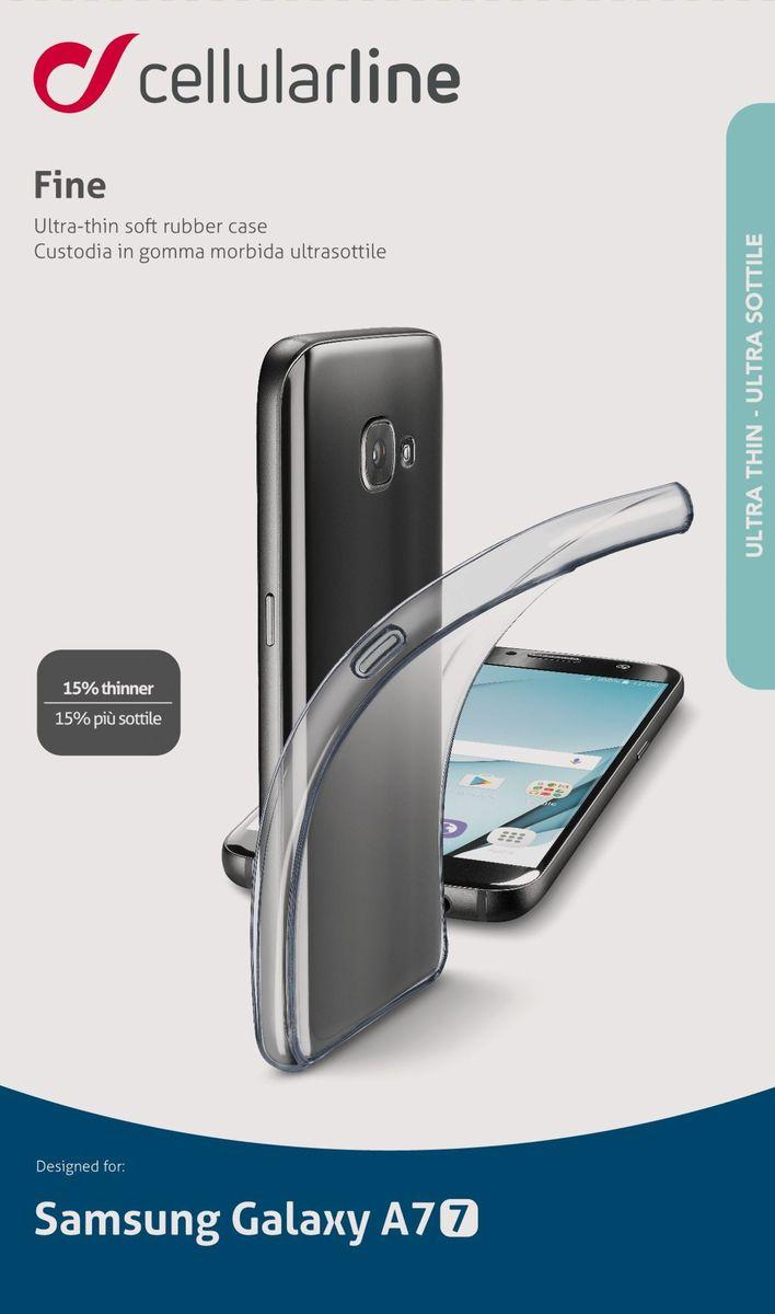Cellular Line чехол для Samsung Galaxy A7 (2017), ClearFINECGALA717TПрозрачная силиконовая задняя крышка для смартфона, ультратонкая, ультрапрозрачная.