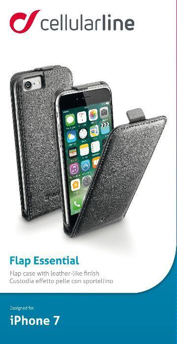 Cellular Line Flap чехол для iPhone 7, BlackFLAPESSIPH747KЧехол Cellular Line Flap для iPhone 7 надежно защитит ваш смартфон от внешних воздействий, грязи, пыли, брызг. Он также поможет при ударах и падениях, не позволив образоваться на корпусе царапинам и потертостям. Чехол обеспечивает свободный доступ ко всем функциональным кнопкам смартфона и камере.