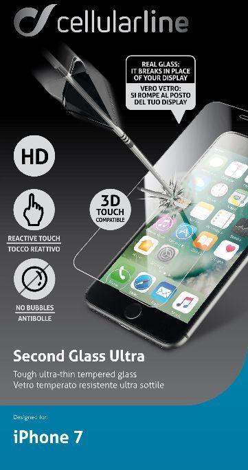 Cellular Line защитное стекло для iPhone 7TEMPGLASSIPH747