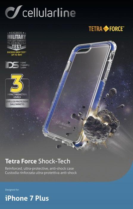 Cellular Line чехол ультрапрочный для iPhone 7 Plus, BlueTETRACPROIPH755BУльтрапрочная задняя крышка, жесткая задняя часть с мягкими краями,инновационная технология защиты IDS для рассеивания удара, усиленная защита краев и углов, тройной уровень защиты (задняя крышка, жесткая наружная рамка, мягкая внутренняя рамка).