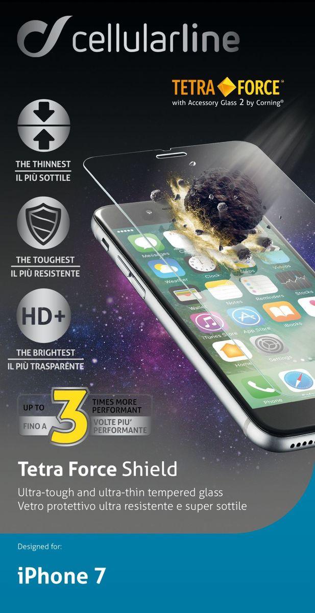 Cellular Line защитное стекло для iPhone 7 ультрапрочноеTETRAGLASSIPH747