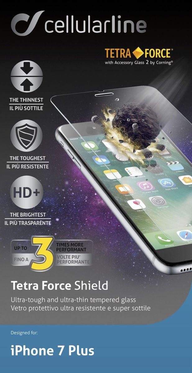 Cellular Line защитное стекло для iPhone 7 Plus ультрапрочноеTETRAGLASSIPH755