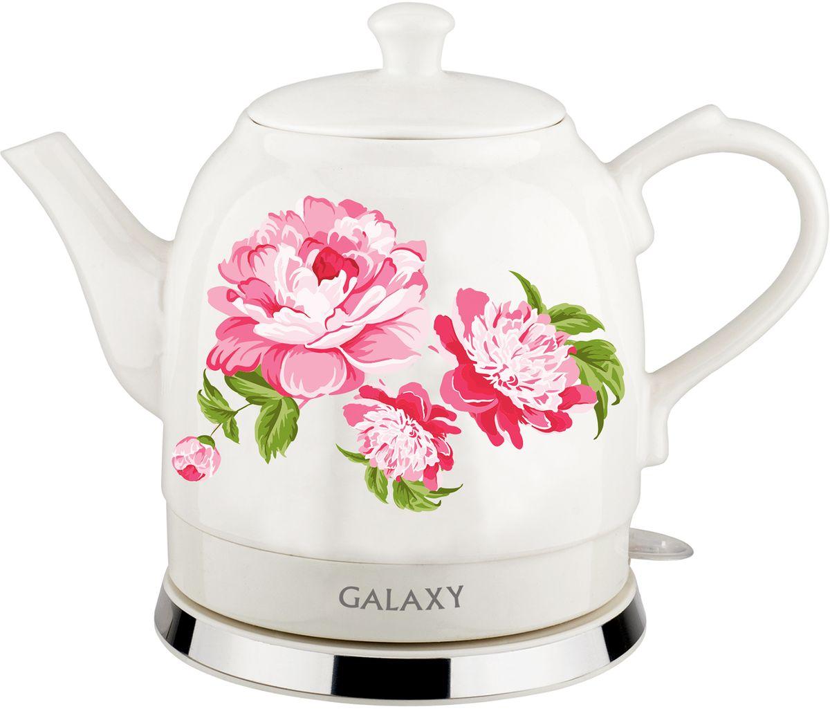 Galaxy GL 0503 чайник электрический4630003364074Керамический чайник Galaxy GL 0503 создает теплую атмосферу на кухне и располагает к душевной беседе за чашкой чая. Благодаря толстым стенкам, чайник работает бесшумно. Керамический чайник Galaxy GL 0503, как и любая посуда из этого материала, долго сохраняет тепло, позволяя значительно сократить энергозатраты. Во время чаепития вы можете разместить керамический чайник Galaxy GL 0503 на столе. В отличие от пластиковых и металлических чайников, керамический чайник вписывается в картину чаепития очень гармонично.