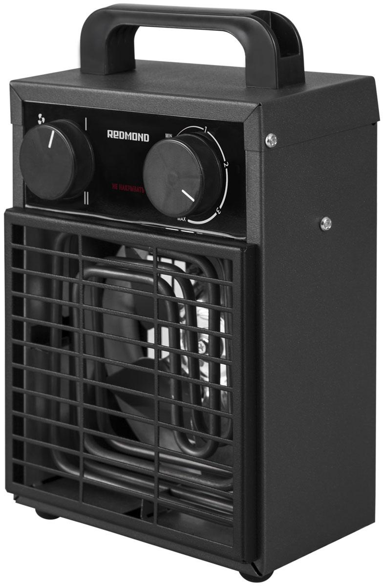 Redmond RFH-4551S тепловентиляторRFH-4551SЕсли в обогреве или дополнительном источнике тепла нуждается ваш гараж, частная мастерская, загородный дом или веранда, лучшего решения, чем умный тепловентилятор Redmond RFH-4551S, вам не найти! Управлять данной моделью можно как непосредственно с помощью регуляторов на корпусе, так и дистанционно – из любой точки мира через мобильное приложение Ready for Sky. Удаленно включите 4551S за некоторое время до прибытия на дачу, если решили приехать туда на выходные. К вашему возвращению дом будет уютным и теплым – тепловентилятор может прогреть помещение до 30 м2. Вам необходимо, чтобы техника или инструменты на веранде или в гараже не пострадали от низких температур, а для этого помещения нужно периодически протапливались? Настройте через приложение расписание работы модели по дням недели и по времени – тепловентилятор будет автоматически включаться и выключаться в заданные часы. Также со смартфона можно заблокировать ручное включение тепловентилятора. ...