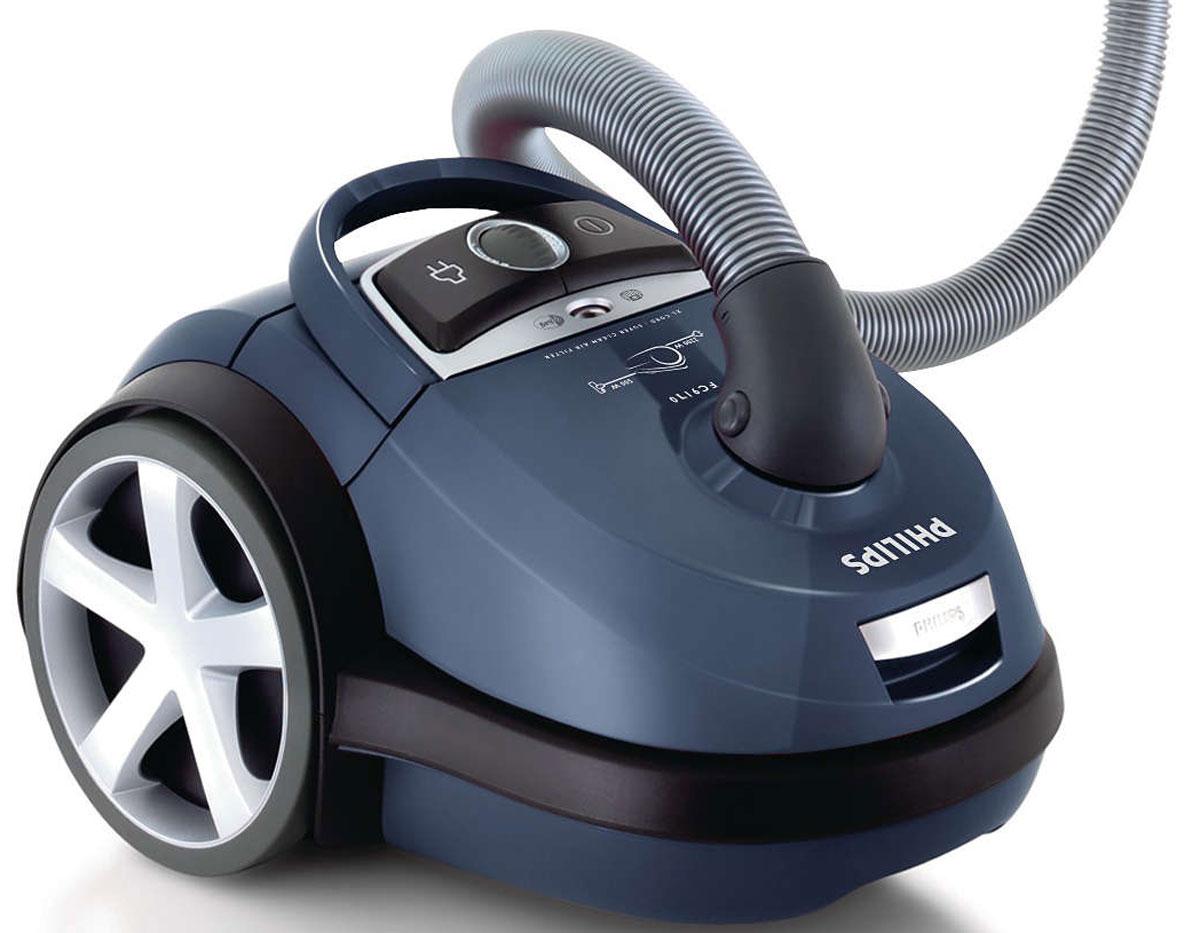 Philips FC9170/02 пылесосFC9170/02Самый высокий уровень всасывающей мощности обеспечивает уборку без усилий. Оснащенный гигиеническим фильтром и системой простого извлечения мешков для мусора, Philips FC9170/02 идеально решает все проблемы с пылью и грязью. Высокоэффективный мотор мощностью 2200 Вт обеспечивает мощность всасывания 500 Вт для идеальных результатов уборки. Пылесос Philips FC9170/02 разработан и сконструирован таким образом, что перед выходом весь поглощаемый воздух проходит через моющийся фильтр HEPA 13 (99,95 % фильтрации). Ни одна пылинка не ускользнет! Большая емкость мешка для пыли обеспечивает оптимальное использование и позволяет менять мешок значительно реже. Насадка TriActive позволяет одновременно выполнять три действия очистки: 1) большое фронтальное отверстие на конце насадки с легкостью захватывает крупный мусор; 2) аэродинамический дизайн обеспечивает максимальную эффективность очистки; 3) две боковые щетки собирают пыль и грязь...