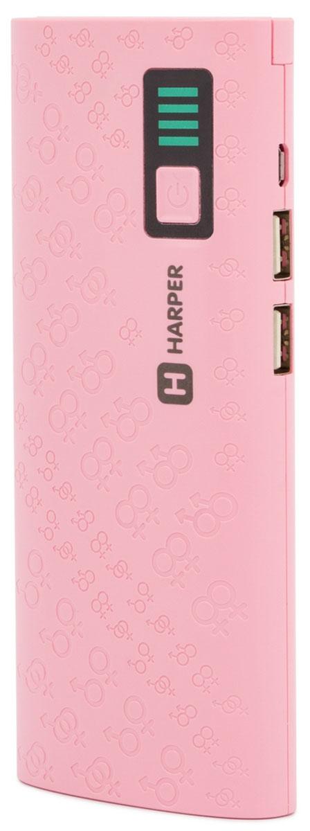 Harper PB-10007, Pink внешний аккумулятор (10000 мАч)H00001312Harper PB-10007 - компактный, удобный, стильный и очень емкий внешний аккумулятор для ваших гаджетов. С Harper PB-10007 емкостью в 10000 мАч вы сможете неоднократно перезарядить практически любой смартфон (даже с аккумулятором повышенной емкости) или другую портативную технику. Пауэрбанк оснащен встроенной защитой от коротких замыканий (устройство отключится автоматически), а также специальным смарт-чипом, который отслеживает ток заряда и выстраивает верный алгоритм подачи собственного тока на потребителей. Два USB порта позволяют осуществить одновременное подключение внешних устройств. А для оптимального потребления порты имеют разные значения силы тока (для более слабых и мощных устройств). Подвижная панель со светодиодами позволяет не только использовать Harper PB-10007 в качестве ручного фонаря, но и подсветить USB-разъемы при подключении гаджетов. Любая индикация, как бы мало она не потребляла тока, разряжает встроенный...