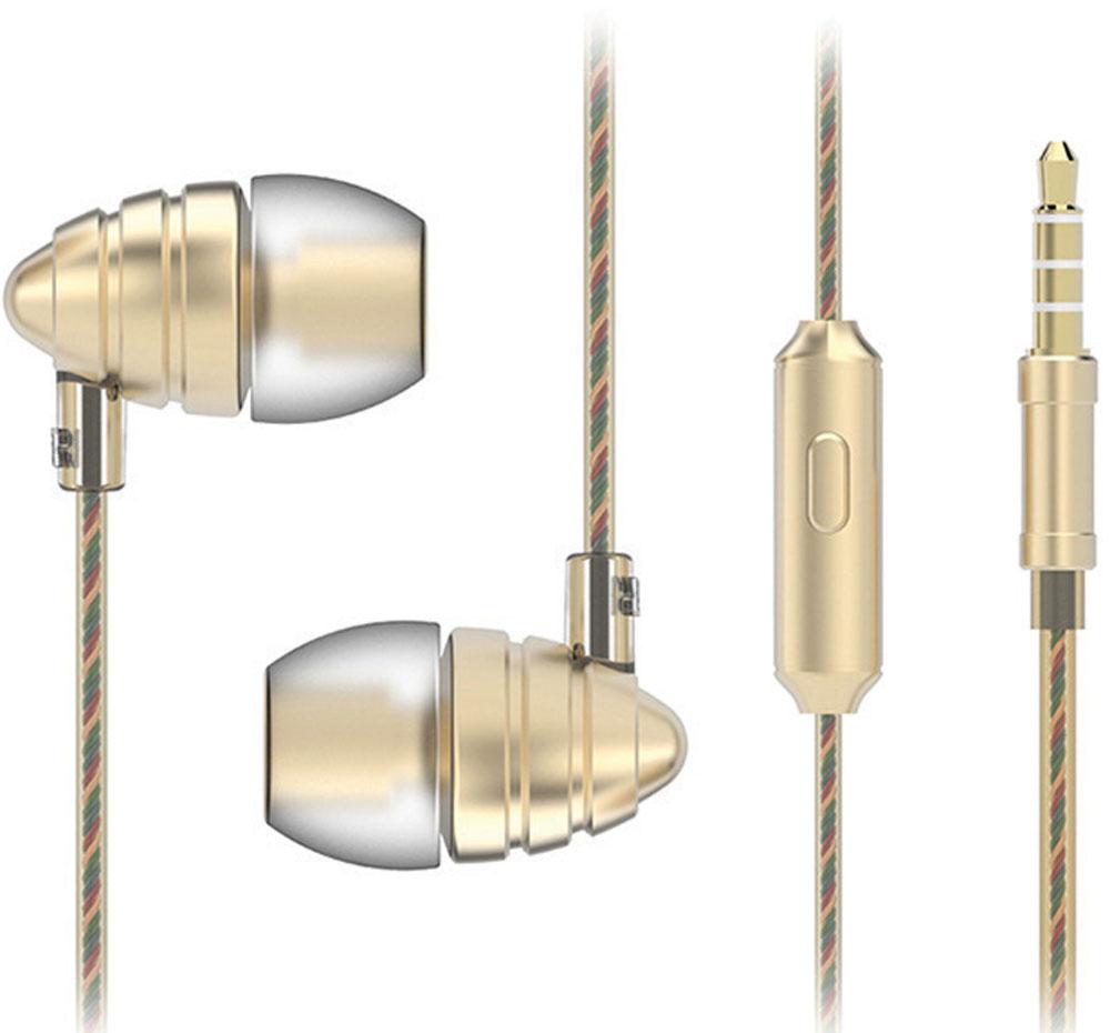 Harper HV-805, Gold наушникиH00000973Наушники Harper HV-805 относятся к классу динамических проводных наушников-вкладышей (внутриканальные). Они обеспечивают отличное качество звука вкупе с дополнительным функционалом (гарнитура для разговора и управление переключением / перемоткой музыки). Кабель наушников имеет оптимальную длину в 1,2 метра и прямой штекер 3,5 мм Jack (он наиболее удобен для портативной техники, носимой в карманах или сумочках). Технические параметры наушников обеспечивают действительно насыщенное звучание басов. Воспроизводимые частоты – 20-20000 Гц (с уклоном в сторону низких частот), импеданс – 32 Ом, чувствительность – 102 дБ, пиковая мощность излучателя – 10 мВт, диаметр излучателя – 10 мм. Микрофон расположен на кабеле правого наушника, на корпусе микрофона имеется кнопка управления треками, она же используется для приема/завершения вызова в режиме телефонной гарнитуры. Управление треками (переключение назад, вперед, воспроизведение,...