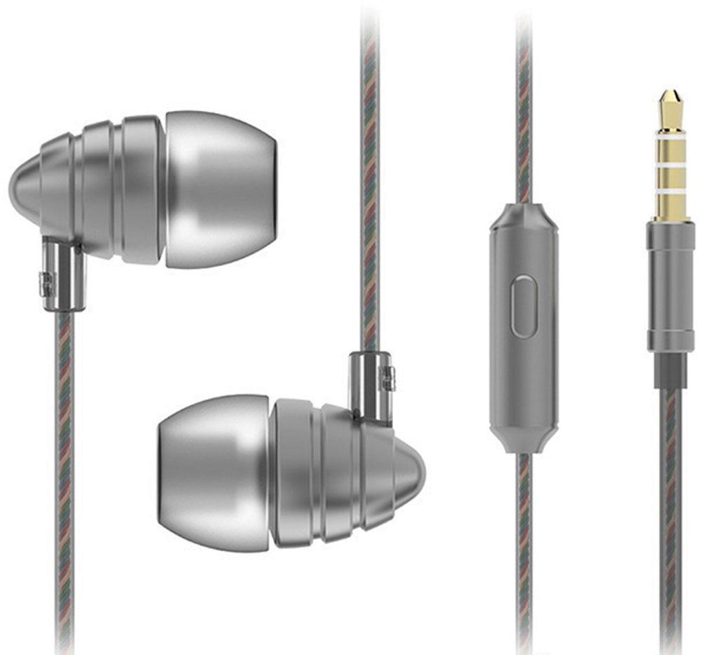 Harper HV-805, Grey наушникиH00000974Наушники Harper HV-805 относятся к классу динамических проводных наушников-вкладышей (внутриканальные). Они обеспечивают отличное качество звука вкупе с дополнительным функционалом (гарнитура для разговора и управление переключением / перемоткой музыки). Кабель наушников имеет оптимальную длину в 1,2 метра и прямой штекер 3,5 мм Jack (он наиболее удобен для портативной техники, носимой в карманах или сумочках). Технические параметры наушников обеспечивают действительно насыщенное звучание басов. Воспроизводимые частоты - 20-20000 Гц (с уклоном в сторону низких частот), импеданс - 32 Ом, чувствительность - 102 дБ, пиковая мощность излучателя - 10 мВт, диаметр излучателя - 10 мм. Микрофон расположен на кабеле правого наушника, на корпусе микрофона имеется кнопка управления треками, она же используется для приема/завершения вызова в режиме телефонной гарнитуры. Управление треками (переключение назад, вперед, воспроизведение,...