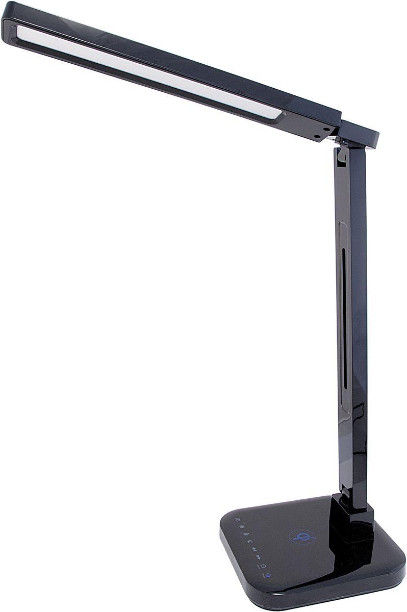 Лампа настольная Лючия Smart Qi, светодиодная, цвет: черный, 15W. L9004606400105466Светодиодный настольный светильник модель L900 Smart Qi - Беспроводная зарядка Qi - USB-разъем для подзарядки 5 В 2 А - Cенсорное управление - 4 режима. Цветовая температура света в диапазоне от 2700 до 6600 К - Дискретное изменение яркости свечения (5 уровней) - Запоминание выбранного уровня яркости в каждом режиме Настольный светильник. Предназначен для местного освещения внутри помещений. Напряжение сети 230 В, частота 50 Гц. Цветопередача Ra > 90. Источник света: SMD светодиоды, 48 шт. Регулировка направления света Кнопка: режим «чтение» Кнопка: режим «учеба» Кнопка: режим «релаксация» Кнопка: режим «сон» Кнопка: уменьшение яркости Кнопка: увеличение яркости Кнопка: таймер на 60 мин Кнопка: включение/ выключение Беспроводная зарядка Qi Разъем для адаптера для сети 230 В USB-разъем для зарядки