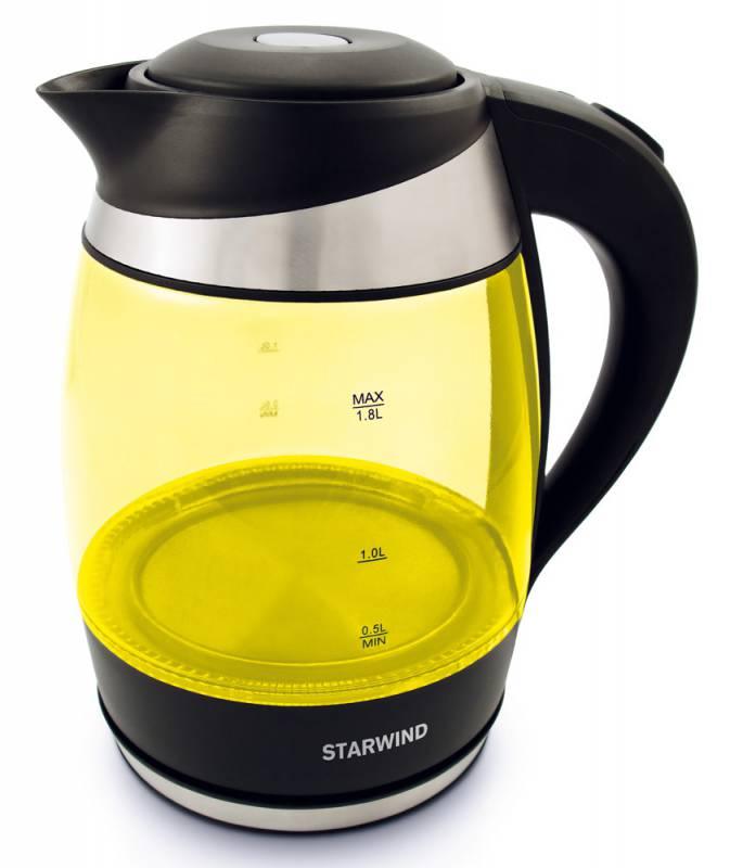 Starwind SKG2215, Yellow Black чайник электрическийSKG2215