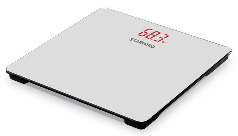 Starwind SSP5451, Gray весы напольныеSSP5451Напольные электронные весы Starwind SSP5451 - неотъемлемый атрибут здорового образа жизни. Они необходимы тем, кто следит за своим здоровьем, весом, ведет активный образ жизни, занимается спортом и фитнесом. Очень удобны для будущих мам, постоянно контролирующих прибавку в весе, также рекомендуются родителям, внимательно следящим за весом своих детей. Погрешность измерения: 100 г Дисплей с подсветкой